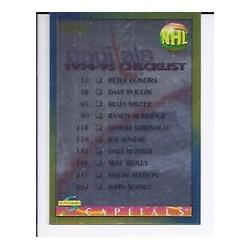 1994-95 Score Gold Line c. 275 Checklist WSH