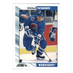 1992-93 Score c. 107 Tatarinov Mikhail QUE