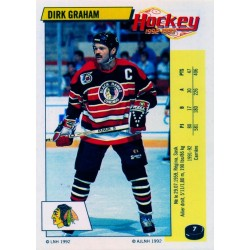 1992-93 Panini Stickers FRENCH c. 007 Graham Dirk CHI
