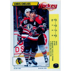 1992-93 Panini Stickers FRENCH c. 011 Chelios Chris CHI