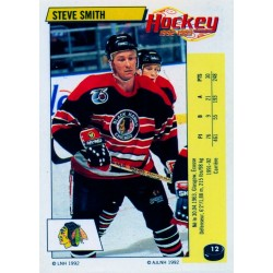 1992-93 Panini Stickers FRENCH c. 012 Smith Steve CHI