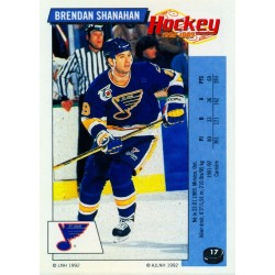 1992-93 Panini Stickers FRENCH c. 017 Shanahan Brendan STL