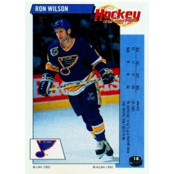 1992-93 Panini Stickers FRENCH c. 018 Wilson Ron-Lee STL