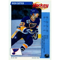 1992-93 Panini Stickers FRENCH c. 019 Sutter Rich STL