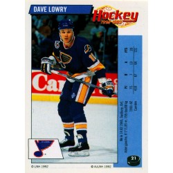 1992-93 Panini Stickers FRENCH c. 021 Lowry Dave STL
