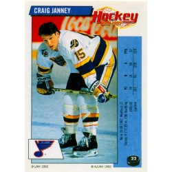 1992-93 Panini Stickers FRENCH c. 022 Janney Craig STL