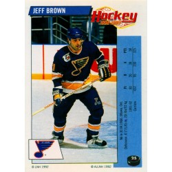 1992-93 Panini Stickers FRENCH c. 025 Brown Jeff STL