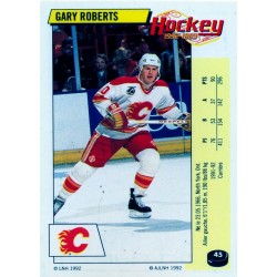 1992-93 Panini Stickers FRENCH c. 045 Roberts Gary CGY