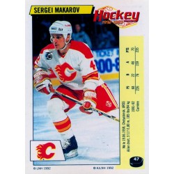 1992-93 Panini Stickers FRENCH c. 047 Makarov Sergei CGY