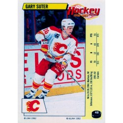 1992-93 Panini Stickers FRENCH c. 048 Suter Gary CGY