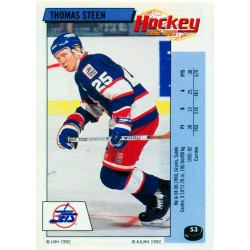 1992-93 Panini Stickers FRENCH c. 053 Steen Thomas WIN