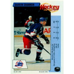 1992-93 Panini Stickers FRENCH c. 058 Shannon Darrin WIN