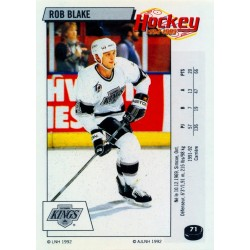 1992-93 Panini Stickers FRENCH c. 071 Blake Rob LAK