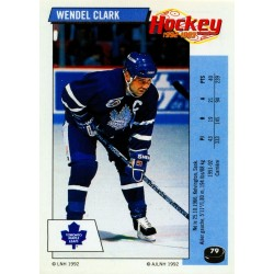 1992-93 Panini Stickers FRENCH c. 079 Clark Wendel TOR