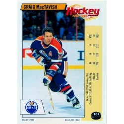1992-93 Panini Stickers FRENCH c. 101 MacTavish Craig EDM