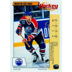 1992-93 Panini Stickers FRENCH c. 106 Gelinas Martin EDM