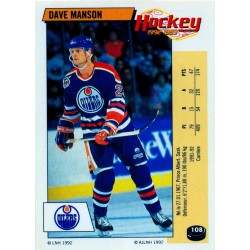 1992-93 Panini Stickers FRENCH c. 108 Manson Dave EDM