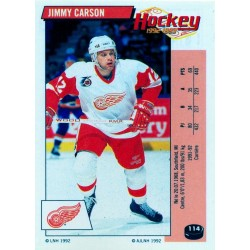 1992-93 Panini Stickers FRENCH c. 114 Carson Jimmy DET