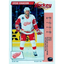 1992-93 Panini Stickers FRENCH c. 120 Chiasson Steve DET