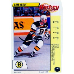 1992-93 Panini Stickers FRENCH c. 143 Neely Cam BOS