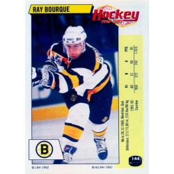 1992-93 Panini Stickers FRENCH c. 144 Bourque Ray BOS