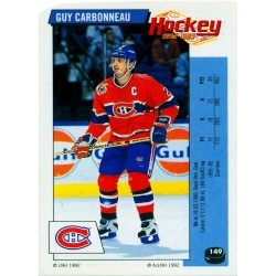 1992-93 Panini Stickers FRENCH c. 149 Carbonneau Guy MON