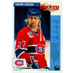 1992-93 Panini Stickers FRENCH c. 150 Corson Shayne MON