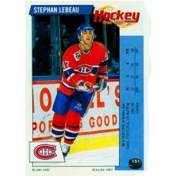 1992-93 Panini Stickers FRENCH c. 151 Lebeau Stephan MON