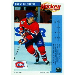 1992-93 Panini Stickers FRENCH c. 153 Gilchrist Brent MON