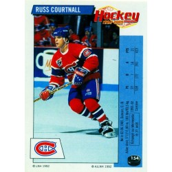 1992-93 Panini Stickers FRENCH c. 154 Courtnall Russ MON