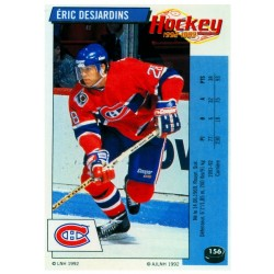 1992-93 Panini Stickers FRENCH c. 156 Desjardins Eric MON
