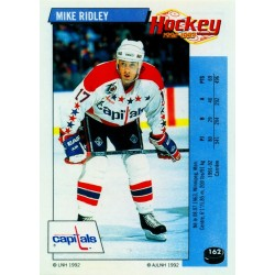 1992-93 Panini Stickers FRENCH c. 162 Ridley Mike WSH