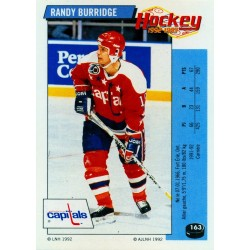 1992-93 Panini Stickers FRENCH c. 163 Burridge Randy WSH