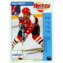 1992-93 Panini Stickers FRENCH c. 165 Hunter Dale WSH