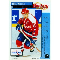 1992-93 Panini Stickers FRENCH c. 166 Miller Kelly WSH