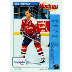 1992-93 Panini Stickers FRENCH c. 169 Langway Rod WSH