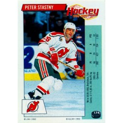1992-93 Panini Stickers FRENCH c. 174 Stastny Peter NJD
