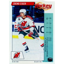 1992-93 Panini Stickers FRENCH c. 175 Ciger Zdeno NJD