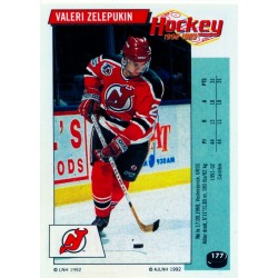 1992-93 Panini Stickers FRENCH c. 177 Zelepukin Valeri NJD