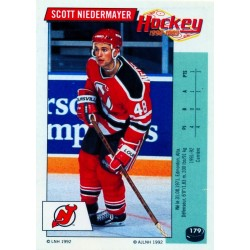 1992-93 Panini Stickers FRENCH c. 179 Niedermayer Scott NJD