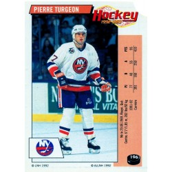 1992-93 Panini Stickers FRENCH c. 196 Turgeon Pierre NYI