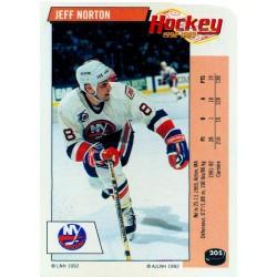 1992-93 Panini Stickers FRENCH c. 205 Norton Jeff NYI