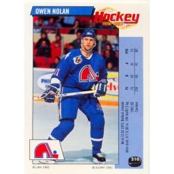 1992-93 Panini Stickers FRENCH c. 210 Nolan Owen QUE