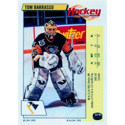 1992-93 Panini Stickers FRENCH c. 219 Barrasso Tom PIT