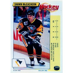 1992-93 Panini Stickers FRENCH c. 222 McEachern Shawn PIT