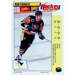 1992-93 Panini Stickers FRENCH c. 224 Francis Ron PIT