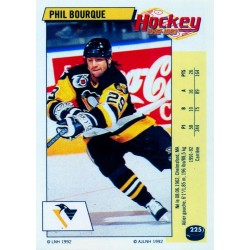 1992-93 Panini Stickers FRENCH c. 225 Bourque Phil PIT