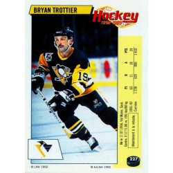 1992-93 Panini Stickers FRENCH c. 227 Trottier Bryan PIT