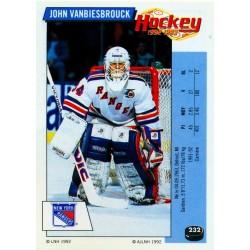 1992-93 Panini Stickers FRENCH c. 232 Vanbiesbrouck John NYR