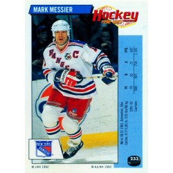 1992-93 Panini Stickers FRENCH c. 233 Messier Mark NYR